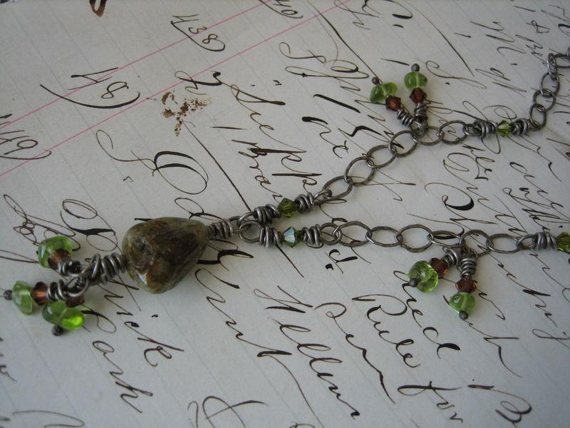 Close up green garnet